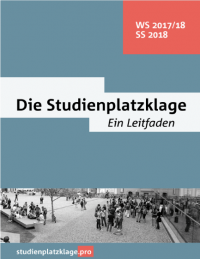 Studienplatzklage – Wintersemester 2017/18 und Sommersemester 2018